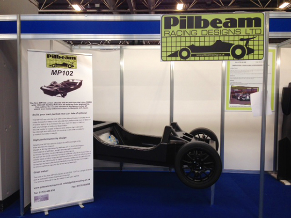 Pilbeam MP102 Carbon GT Chassis at Autosport International 2017