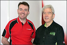 Danny Nowlan and Mike Pilbeam at Professional Motorsport World Expo